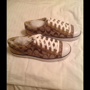Coach sneakers size 6.