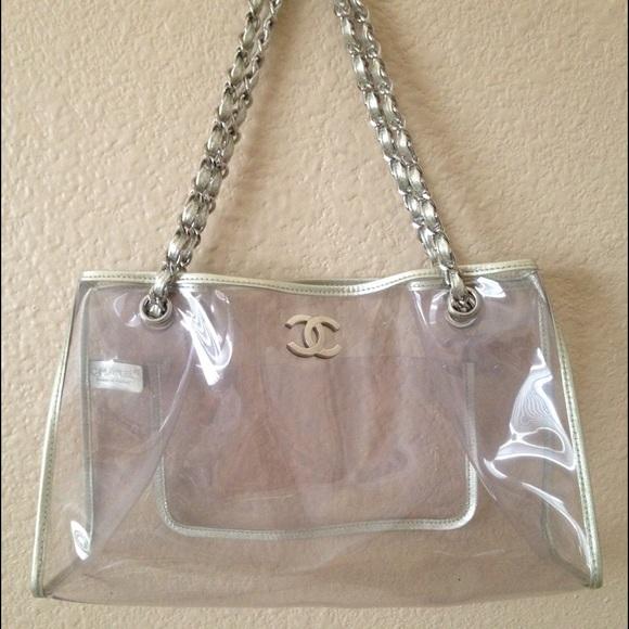 e4080e5fd636e9 CHANEL Handbags - Chanel Clear Vinyl Medium Tote Bag