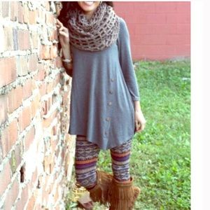 •side button tunic •