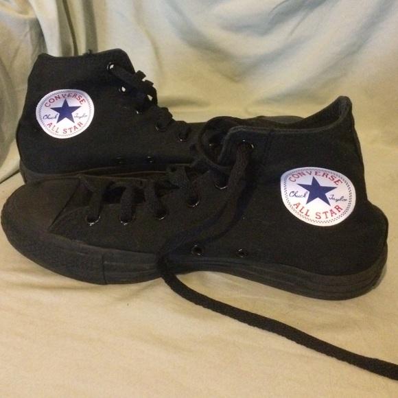 Converse Shoes - All black custom high top converse ff26f78e816e