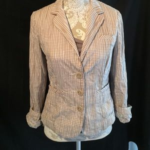 CABI seersucker type jacket