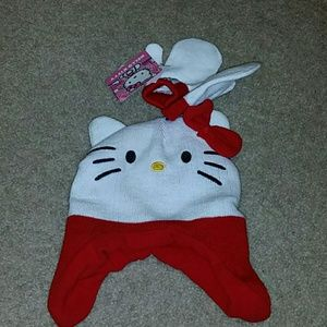 Hello Kitty Other - Girls Toddler hat & mittens set NWT Hello Kitty
