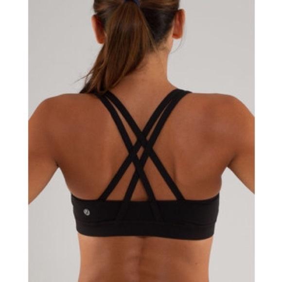 b2edcf3702e4a lululemon athletica Other - Lululemon energy bra sports bra black strappy 12