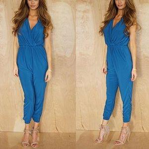 Want my look Pants - NWOT Blue jumpsuit