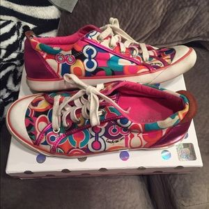 Multicolored Coach poppy shoes