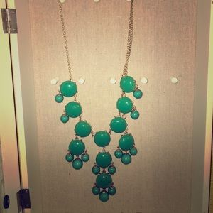 Teal statement necklace as seen on the Today show
