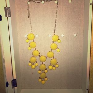 Yellow statement necklace as seen on Today