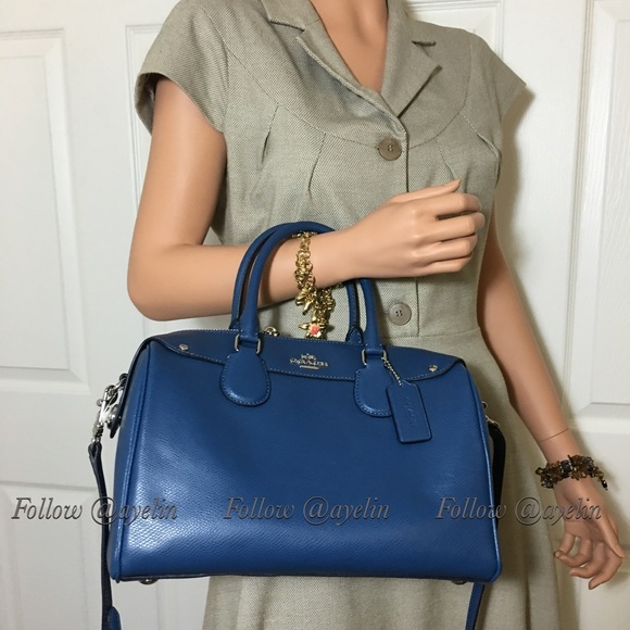 72100a2595429 New Coach Bennett Large Satchel navy blue