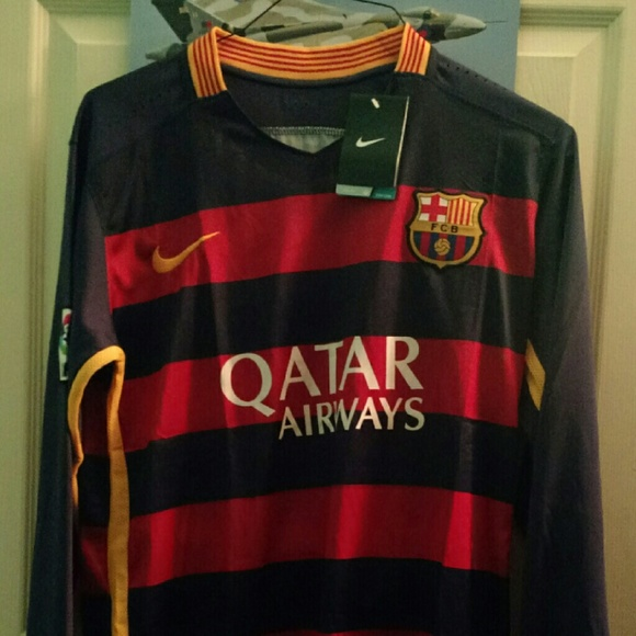 Nike Tops - Barcelona Soccer Long Sleeve Football Jersey Kit