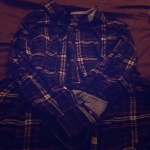 Lands end flannel button up