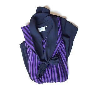 Vintage Purple Stripe Dress