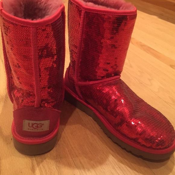 UGG Shoes | Red Sparkle Dorothy Uggs