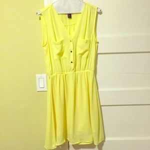 Bright yellow summer dress