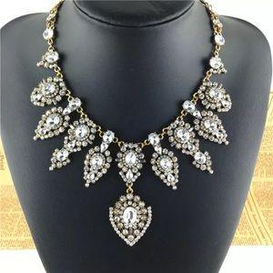 Beautiful bib statement Crystal necklace.