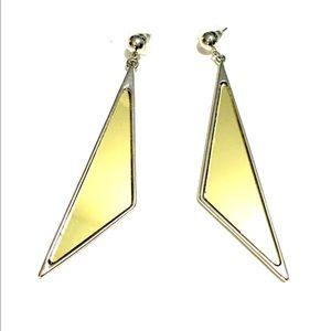 Jewelry - 👂🏼Triangular Mirror Gold & Silver Drop Posts