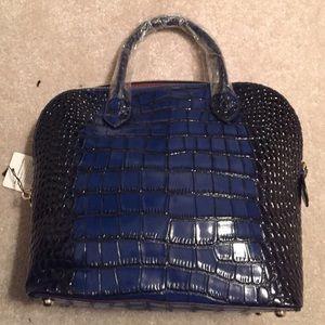 Handbags - Genuine leather blue tote