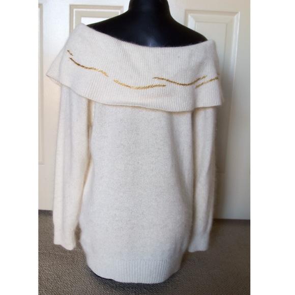 Vintage Sweaters - 🔱Off Shoulder Boatneck Sweater Longsleeve Holiday