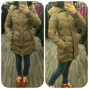 NEW KENNETH COLE 3/4 Hooded Down Puffer Coat