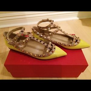 Valentino Shoes - Valentino Rockstud Patent Cage Flats EUR36/US6