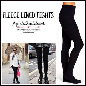 Ellen Tracy Accessories - Black FLEECE LINED Tights