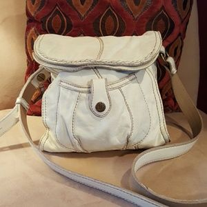 Lucky Brand Soft Off-white Leather Crossbody