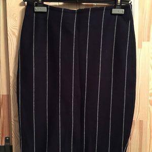Zara pinstripe knit pencil skirt