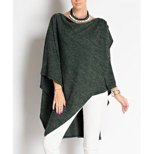 """Masque"" Draped Front Asymmetrical Top"