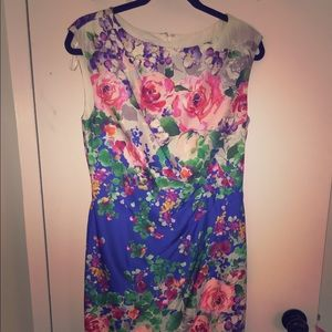 Suzy chin  Dresses & Skirts - Multicolor Floral fit dress. Size 6.