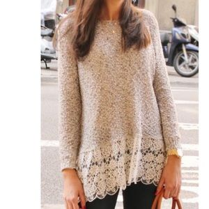 Tops - 🎉HP🎉Elegant Lace Splicing Long Sleeve