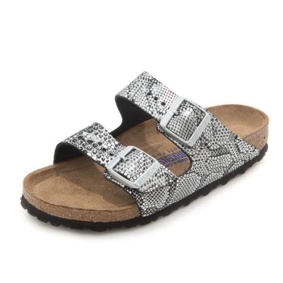de8d12bcde3ce Birkenstock Shoes - Birkenstock Arizona Python print sandals size 37 7