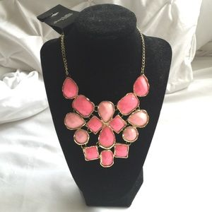 Pink/Coral & Gold Statement Necklace