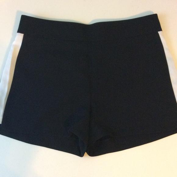 82% off J. Crew Pants - NEW J.CREW Black Shorts With White Stripes ...