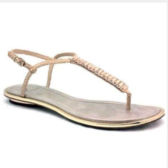 376e8a0705bfa3 Brian Atwood Shoes - B Brian Atwood Jeweled Flat Sandals