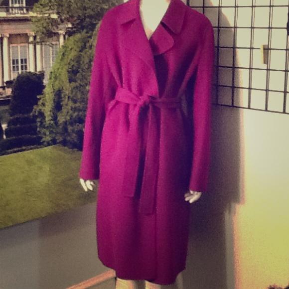 64% off Talbots Jackets & Blazers - Talbots Magenta Wool Wrap Coat ...