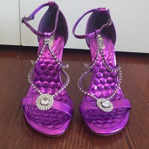 67b12eaa1 Shoes - Purple Rhinestone Dress Sandals