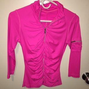 bebe Jackets & Blazers - Pink Bebe Sport zip jacket