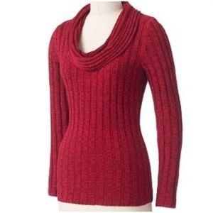 Red Metallic Sweater
