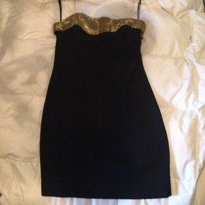 A.J. Bari Dresses & Skirts - VINTAGE STRAPLESS BLACK DRESS
