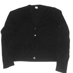 J. Crew Black Cardigan - Size L