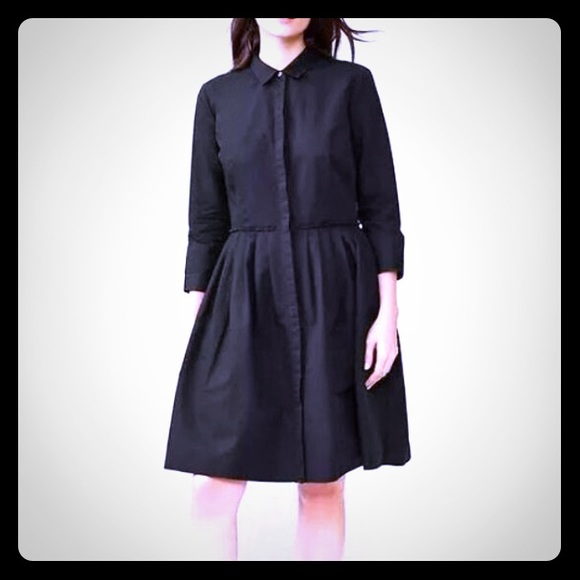 66% off GAP Dresses & Skirts - GAP black linen shirt dress with 3 ...