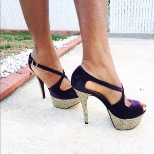 H by Halston Shoes - Purple strappy pumps