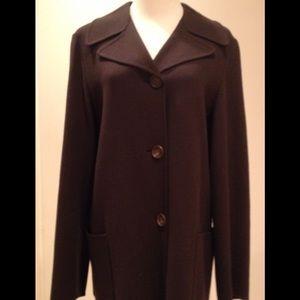 Jil Sander Jackets & Blazers - Vintage Jil Sander for Bergdorf Goodman Wool Coat