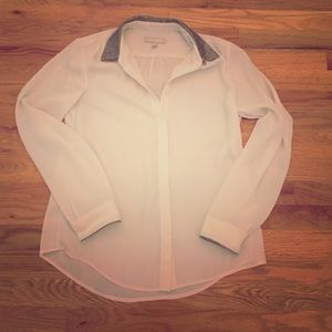 Banana Republic - Sheer Collar Detail Button Up S