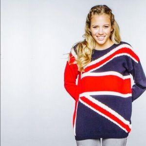Brandy Melville Sweaters - Brandy Melville British Flag Sweater
