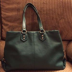 1639e5ca47 Coach Bags - Large dark green Coach purse