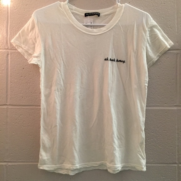 5a505a975e6b6 Brandy Melville white 'Uh Huh Honey' graphic tee NWT
