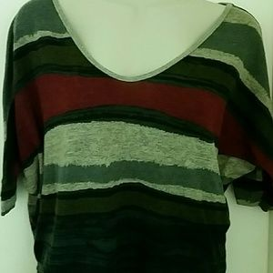 DNA couture striped top