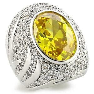 Jewelry - CZ Ring in yellow and crystal