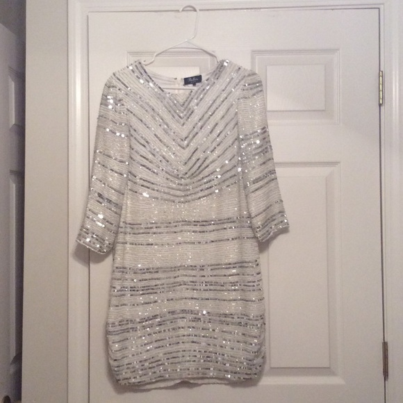 31ce40f91bbb Parker Dresses | Brand New Petra White Sequin Dress | Poshmark
