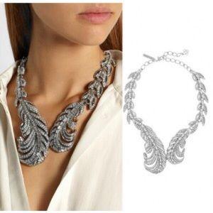 Jewelry - Feather CZ crystal Necklace